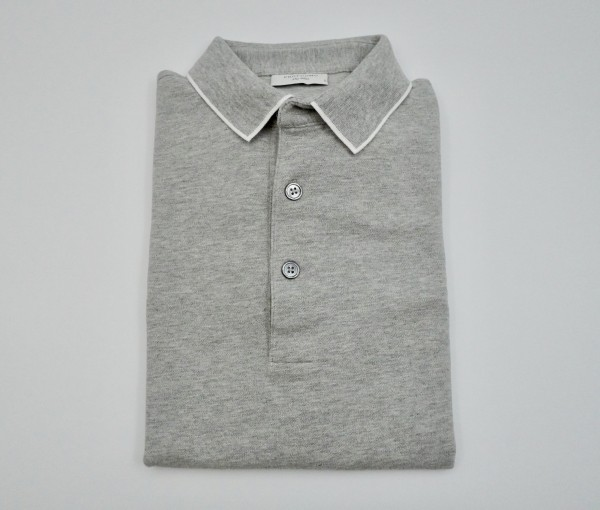 POLO SHORT SLEEVE GREY MEL